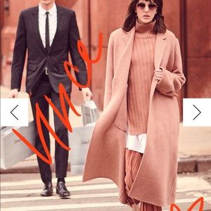 Vince wool blend long trench
